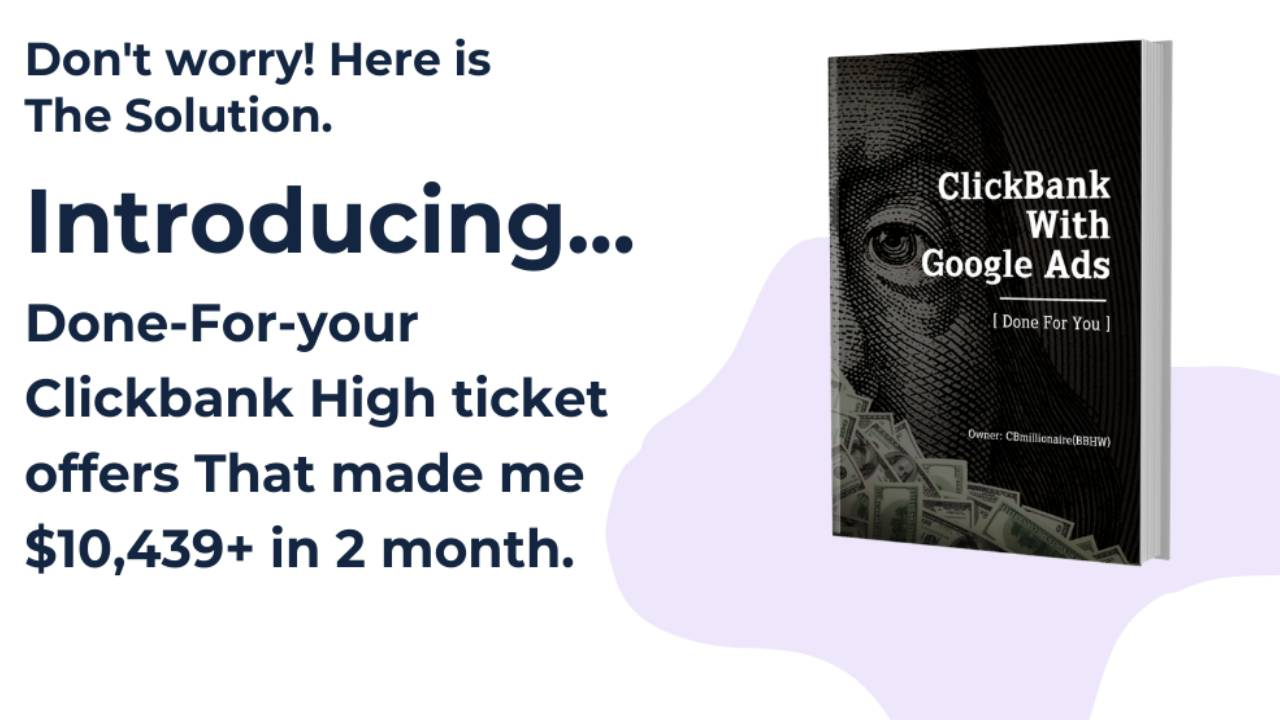 ClickBank Offers That made me $10k+ in 2 Month [ Done For You ]